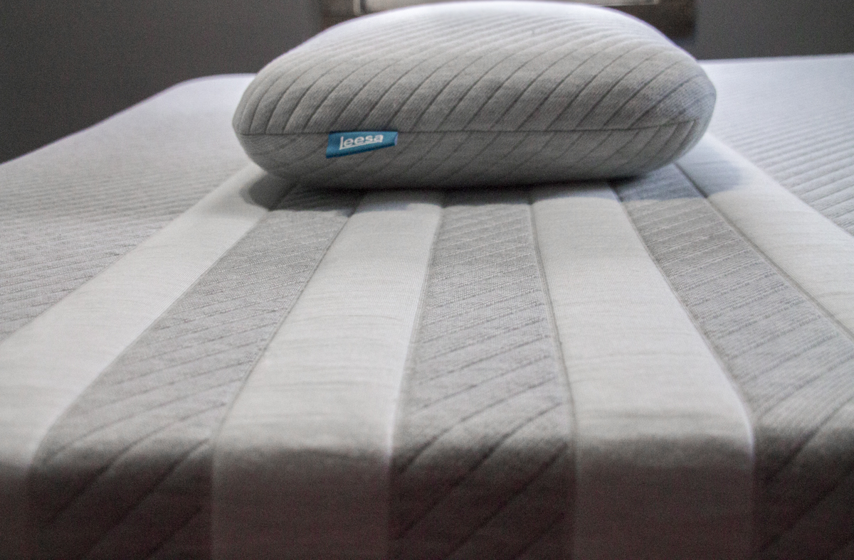 Leesa mattress and pillow