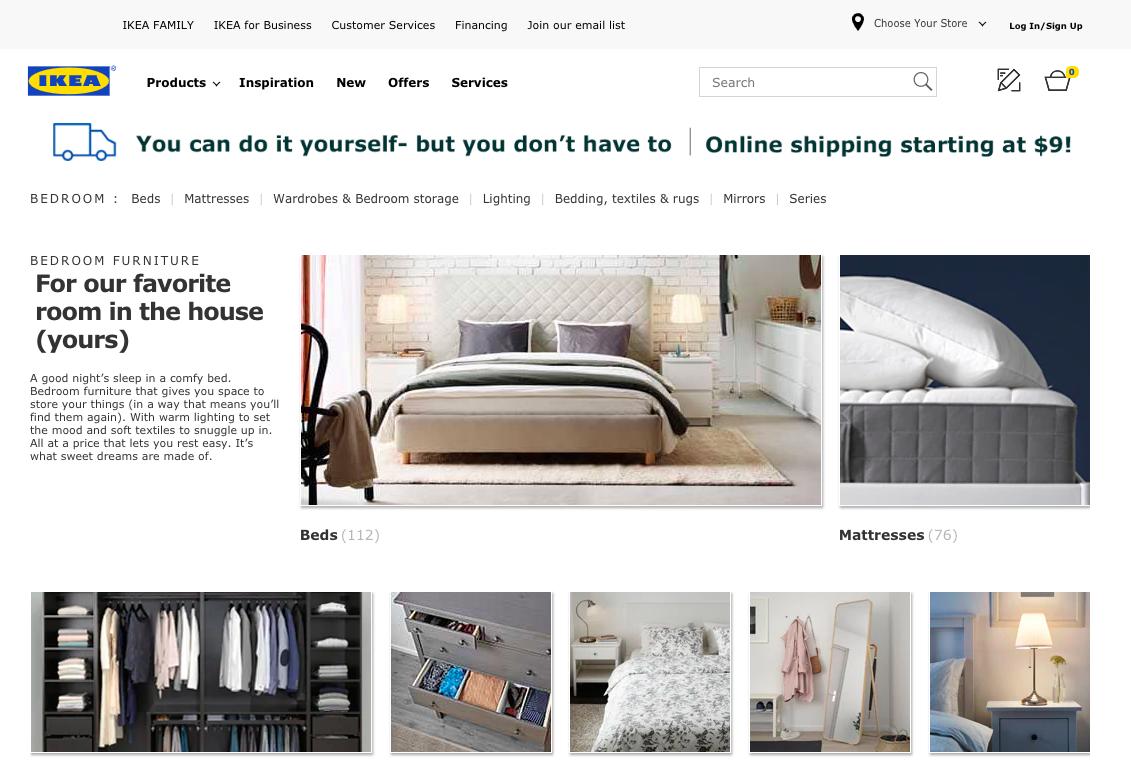 ikea mattress review: ikea website page