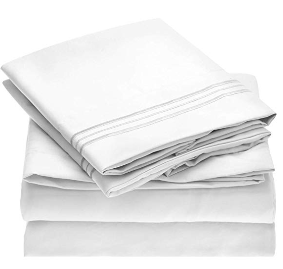 The Mellanni brushed microfiber sheet sets made to be breathable, keep moisture away from your body, dust mites, and other allergens away, hypoallergenic. The Mellani bed sheet sets are available in twin, full, queen, king and California King. The Mellanni sheet sets are perfect bedding sets for adults and children alike. Mellanni bed sheets stay fresh and cool during hot nights and warm on cold nights.