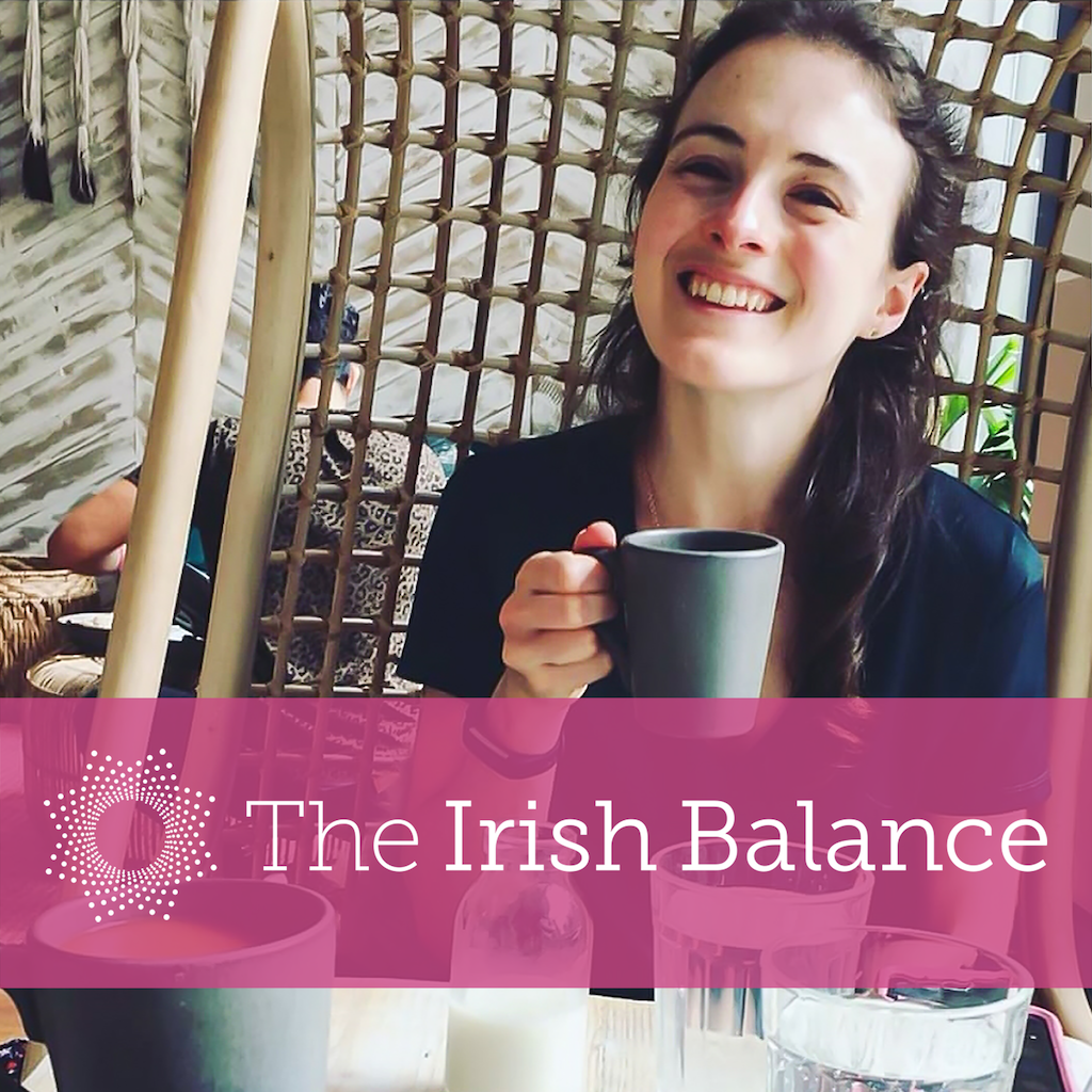 Ciara Kelly with The Irish Balance logo across the image