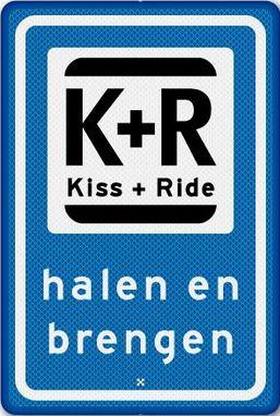 Kiss and ride bord