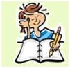 illustratie meisje met schrift
