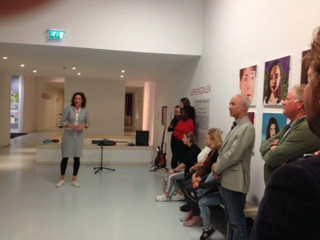 presentatie van expositie