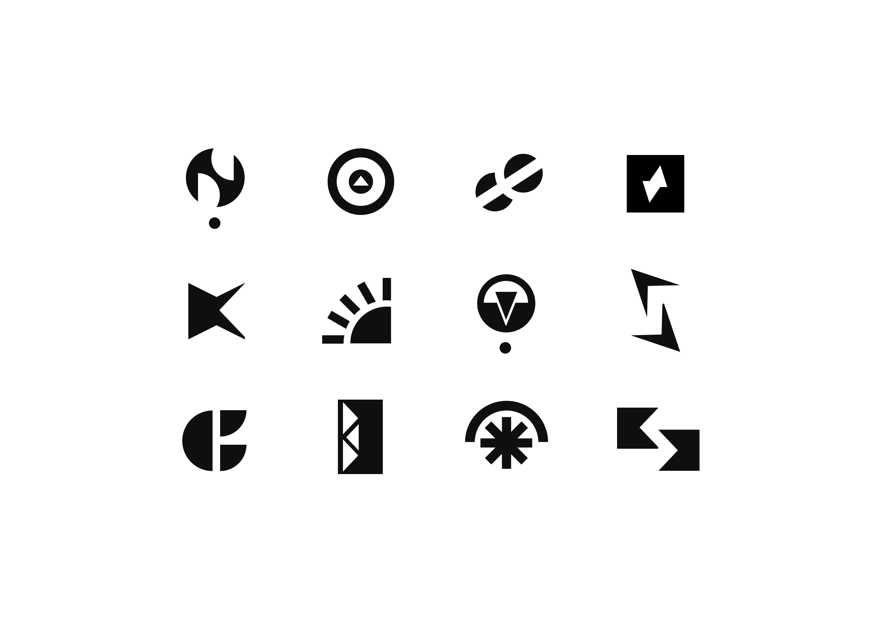 Initial spark logo concepts