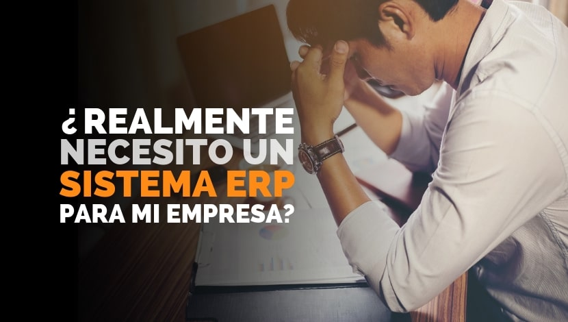 Imagen de un hombre preocupado pensando si invierte o no en un sistema ERP para su Empresa