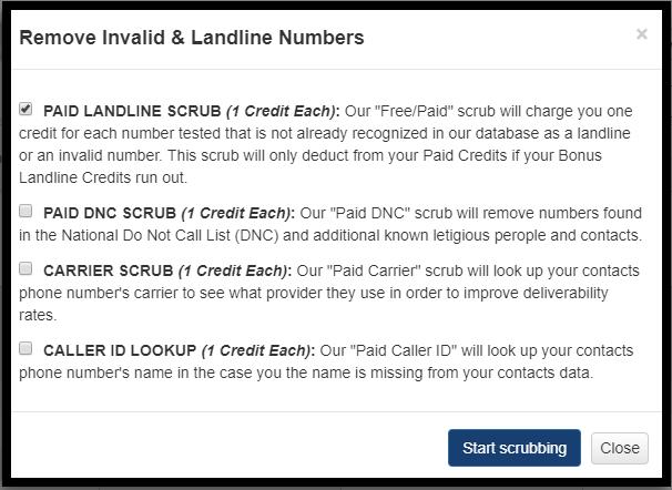 Choose Landline Scrub