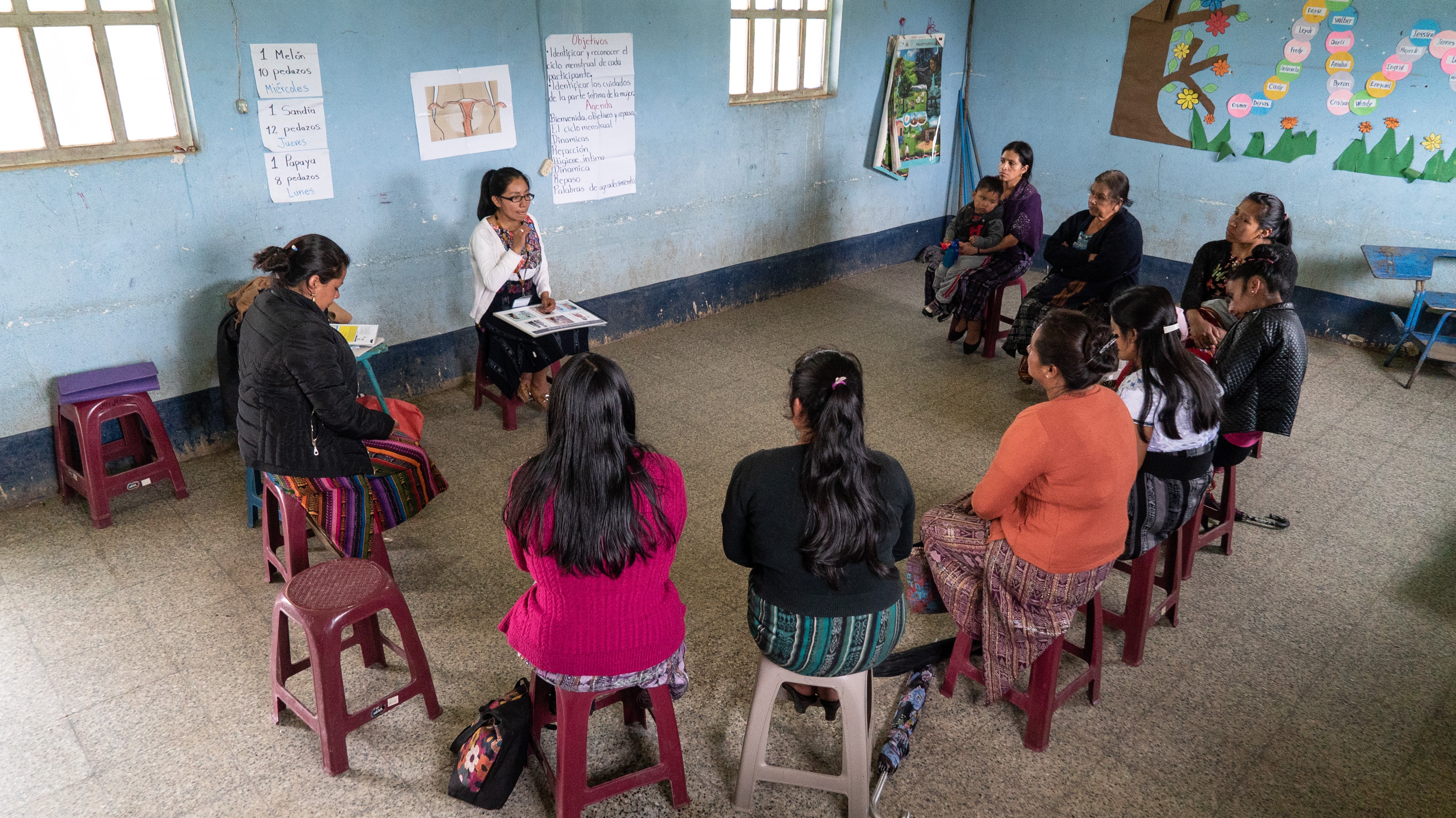 women participating in health workshop in Guatemala