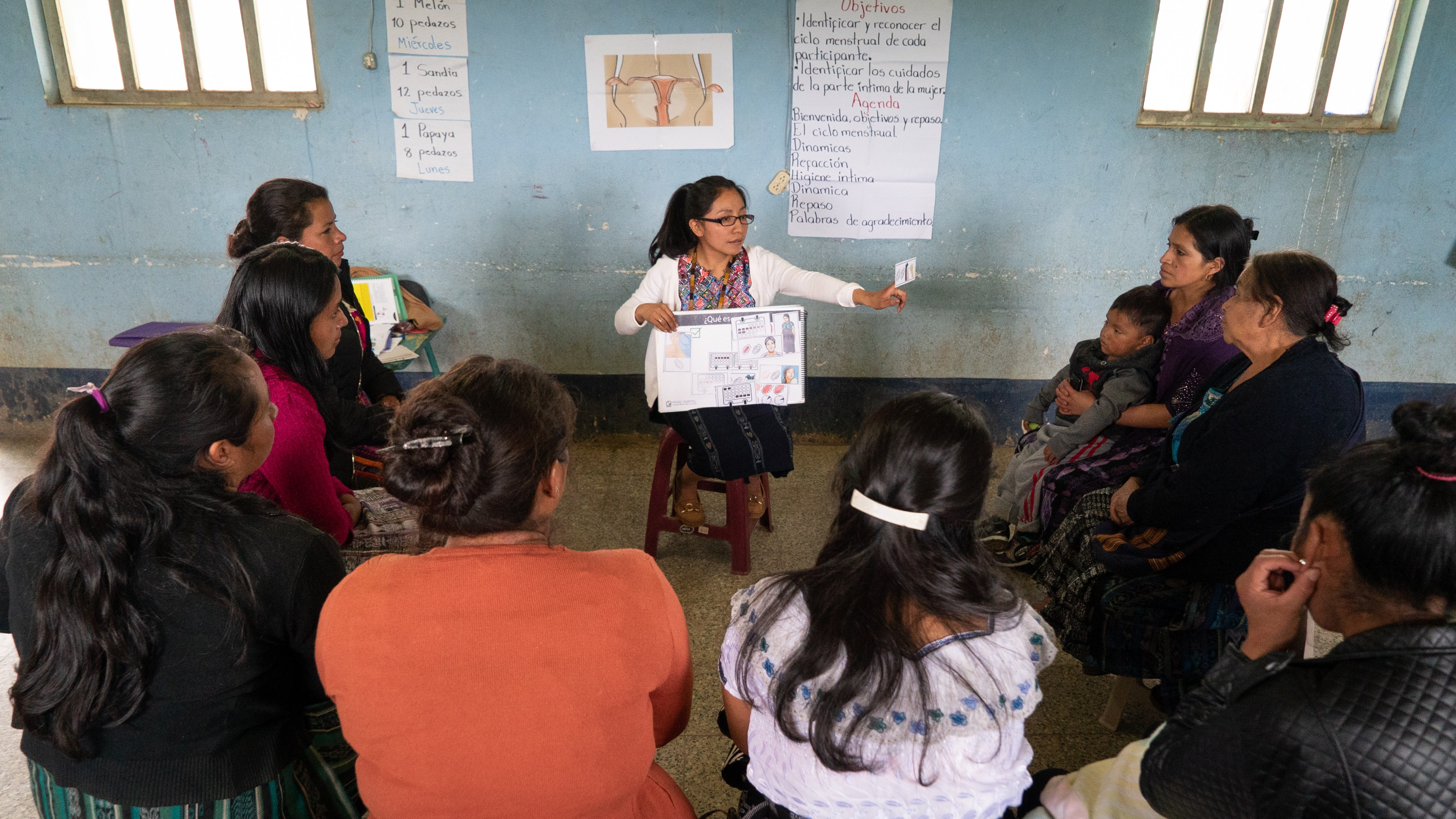 Women in health workshop in rural Guatemala