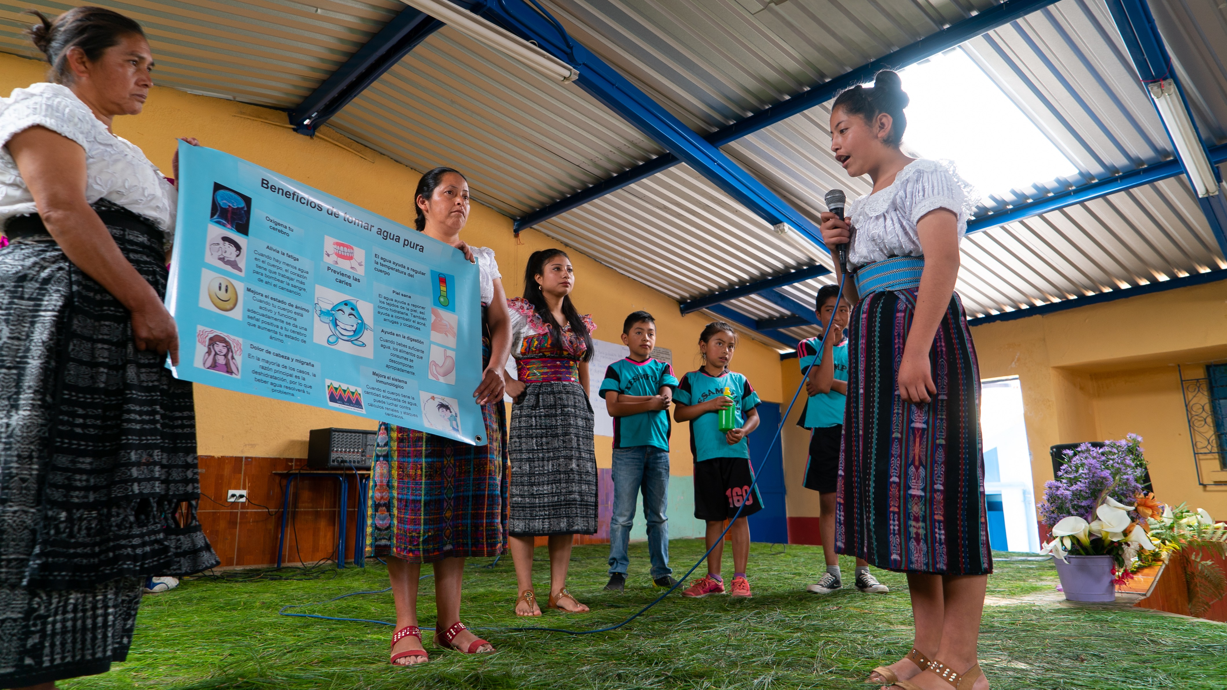 Guatemalan girl public speaking