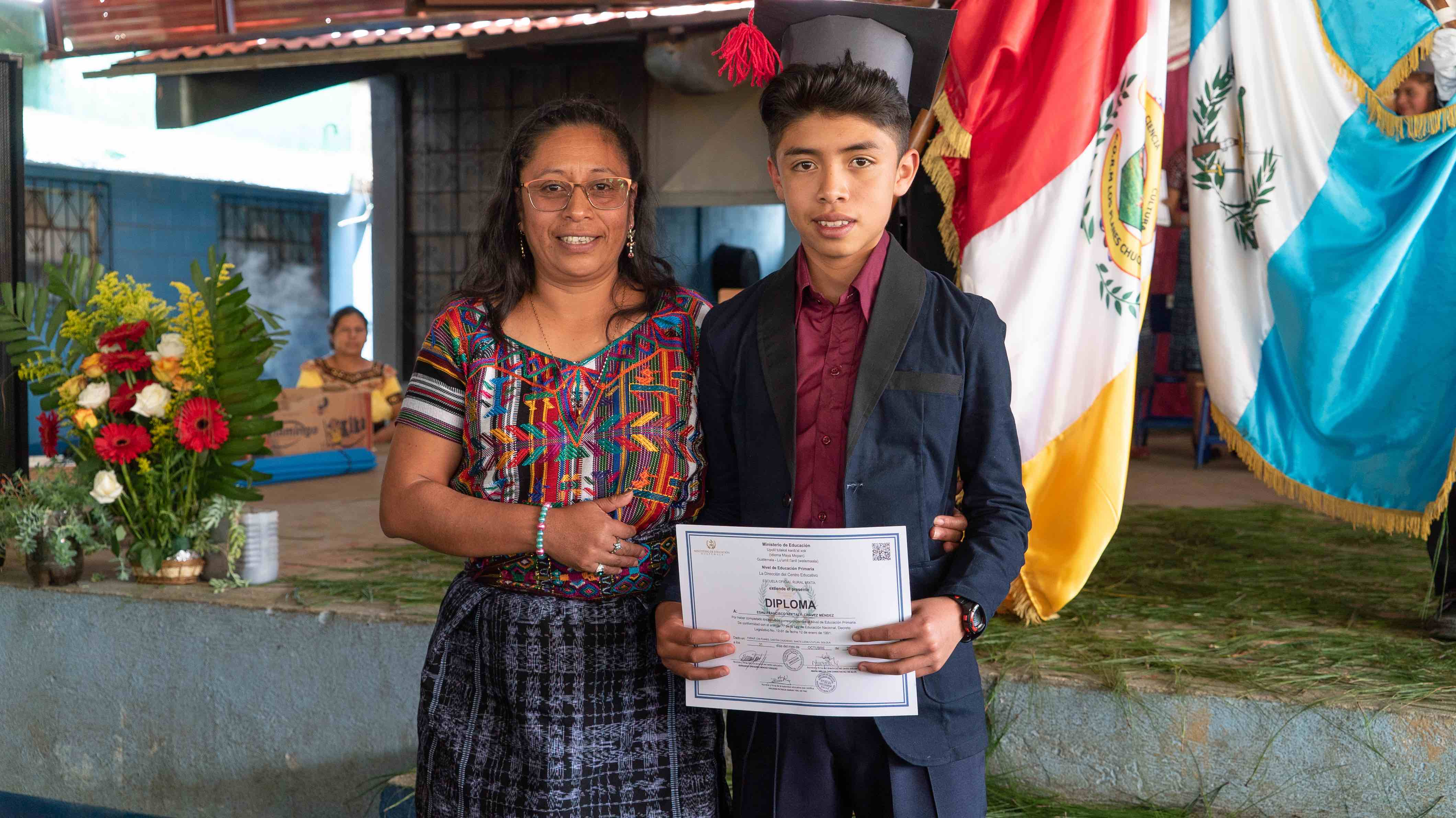 mother and son graduation