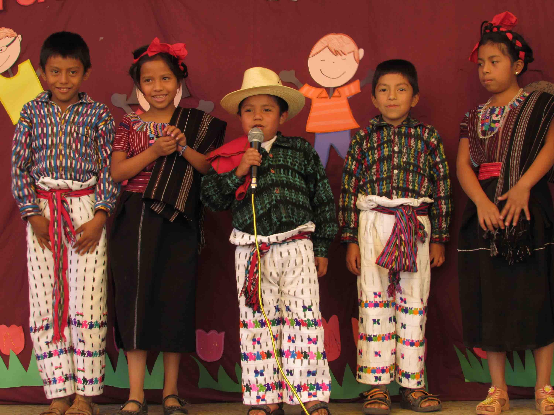 Guatemalan boys wearing Indigenous clothing