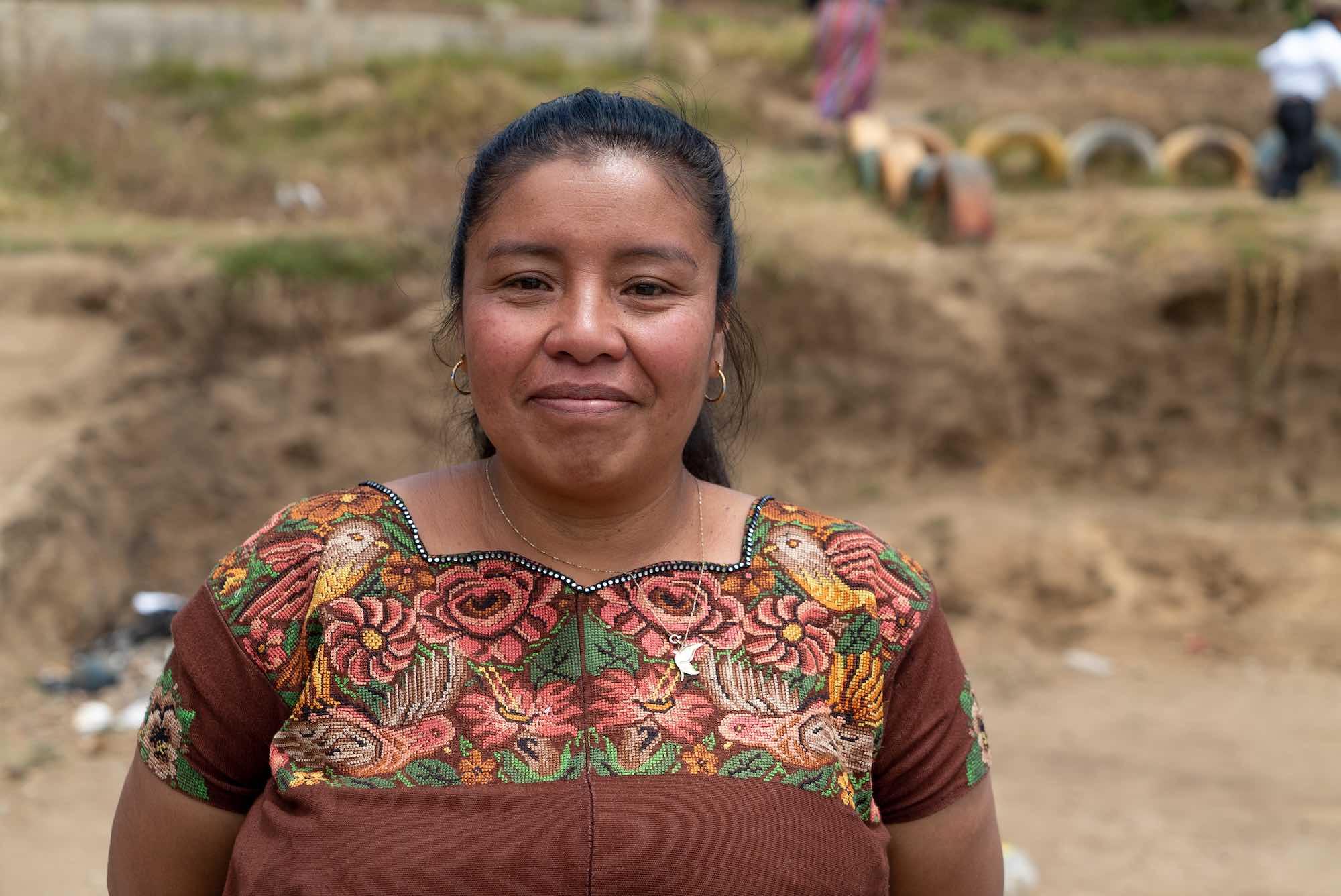 Indigenous woman wearing huipil