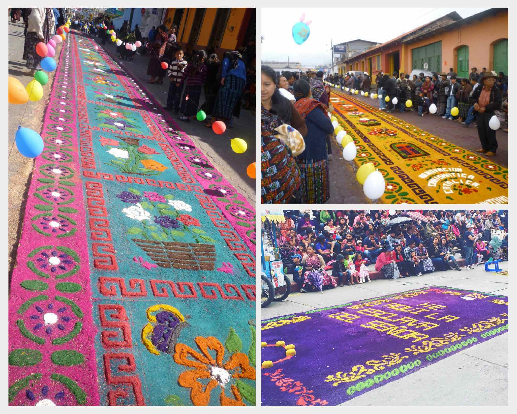 Colorful alfombras in Guatemala