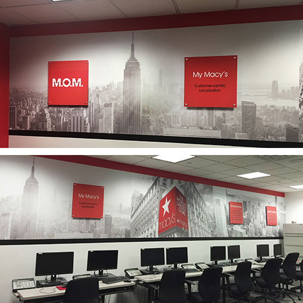 Macys training room graphics