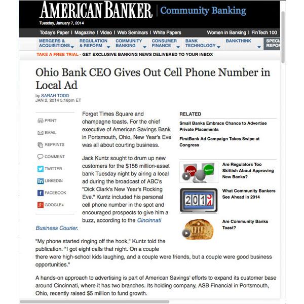 American Banker article