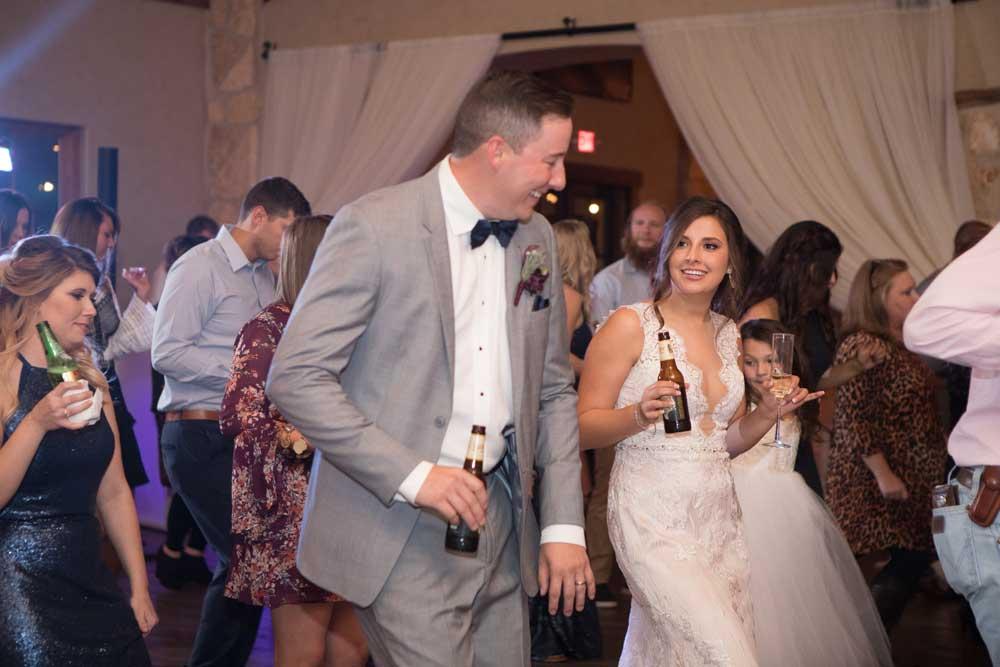 The couple's first dance in the Balmorhea Ballroom