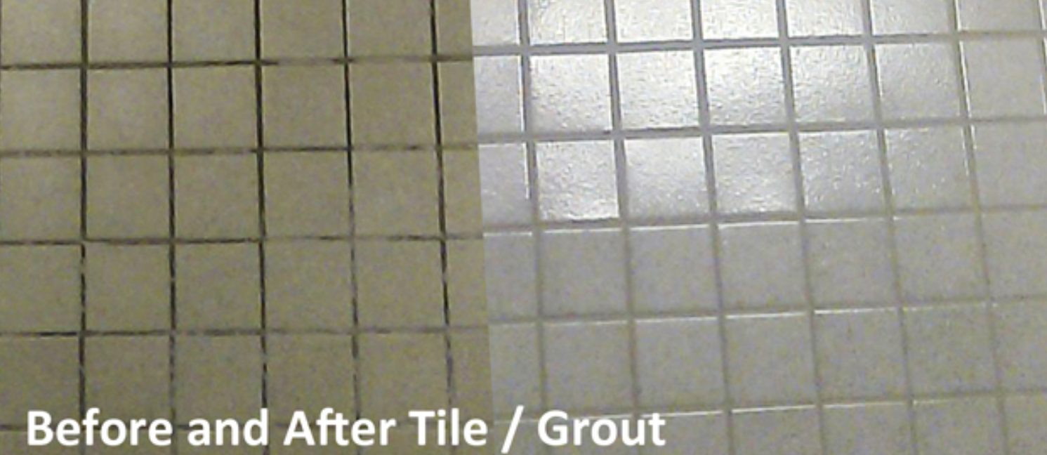before and after tile grout cleaning