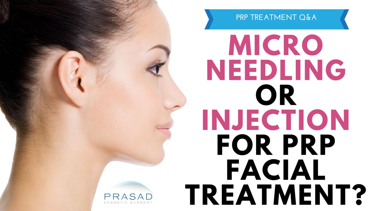 PRP facial treatment