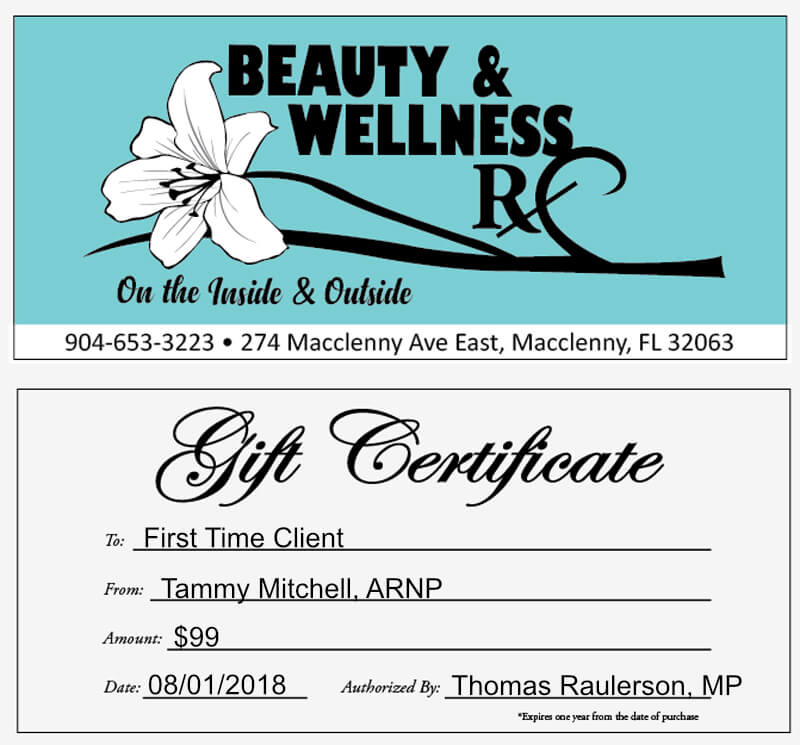 Gift Certificate $99.00