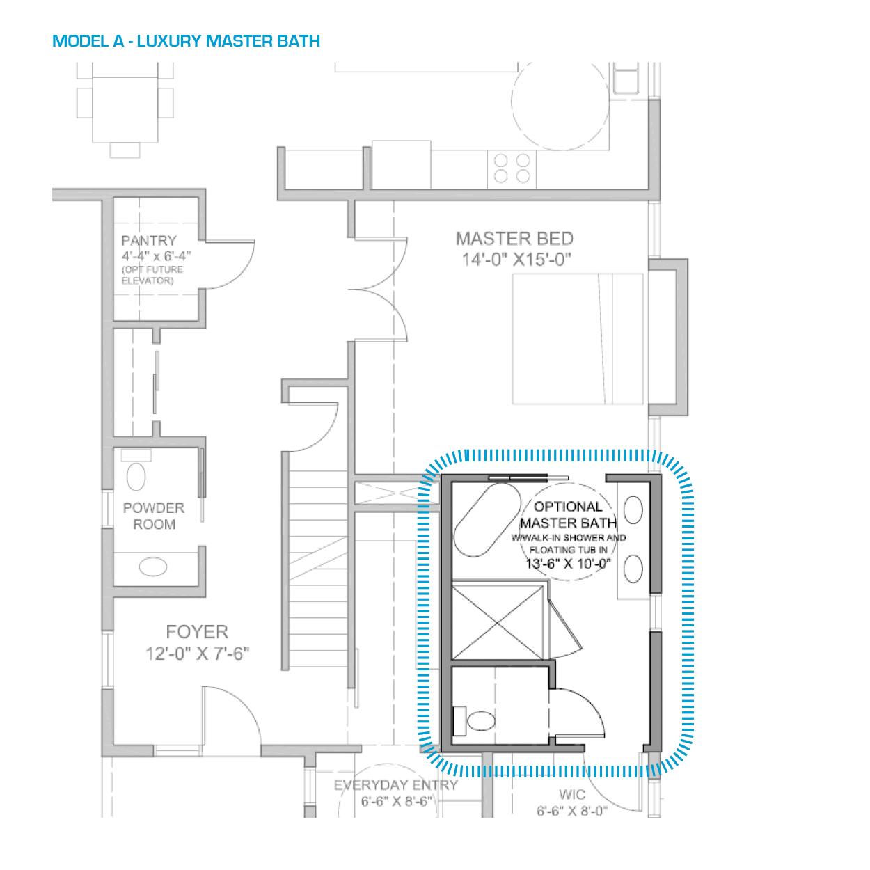 Floor Plan A Walk In Master Shower