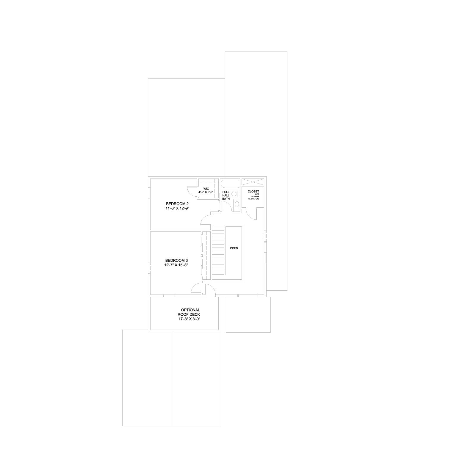 Home 1 Plan B_Base_Second Floor