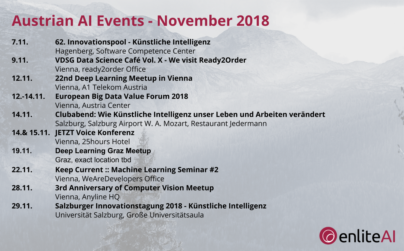 AI Events - November 2018