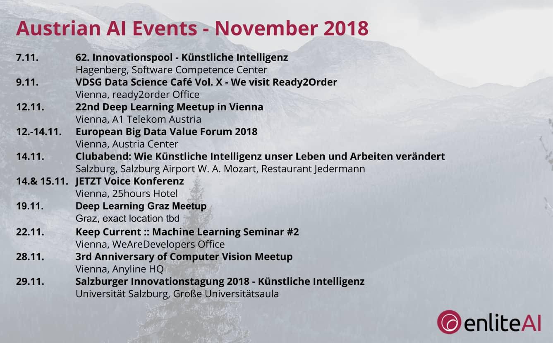 AI Events - November 2018