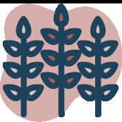 3 stalks of grain icon