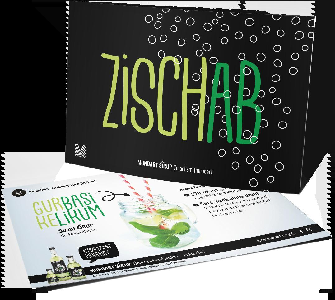 """Postkarte """"Zisch ab"""""""