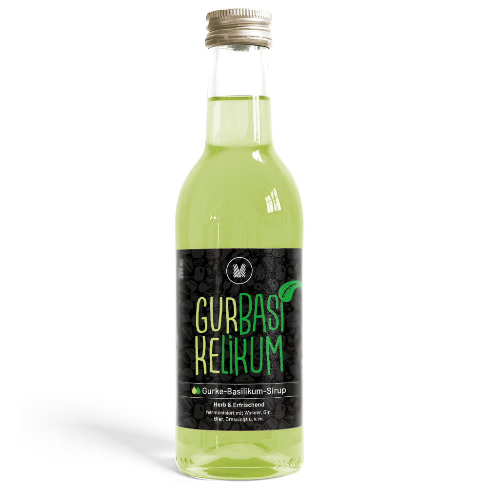 Gurke-Basilikum-Sirup