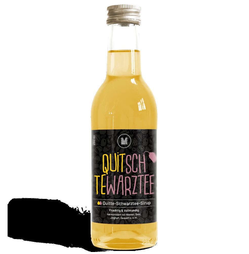 250ml Quitte-Schwarztee-Sirup