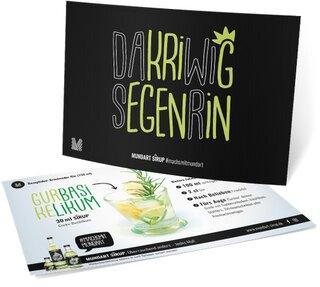 Rezept-Postkarte (Gin-Cocktail)