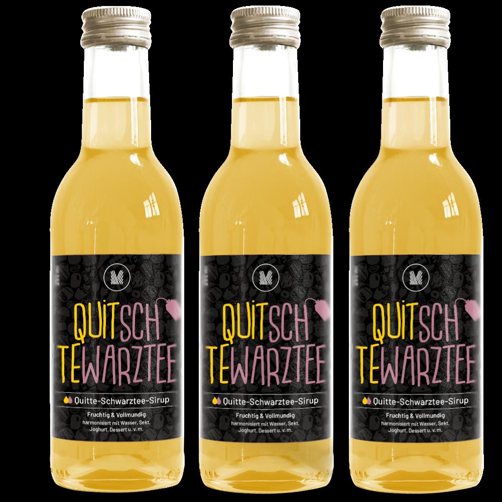 Quitte-Schwarztee-Sirup (3x 250 ml)