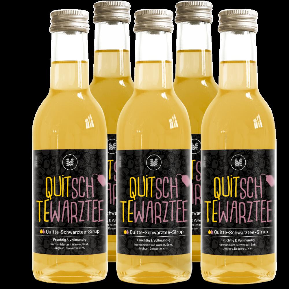 Quitte-Schwarztee-Sirup (5x 250 ml)