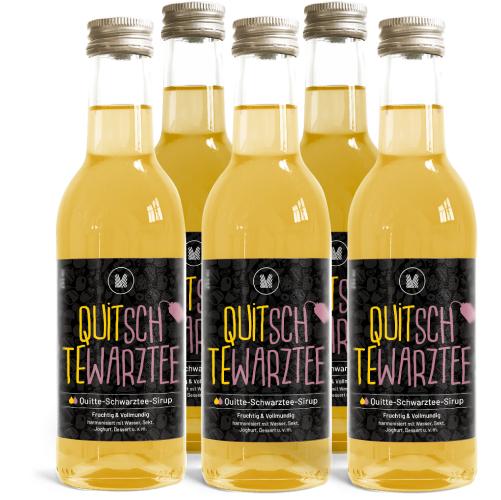 Quitte-Schwarztee-Sirup (5x 250ml)