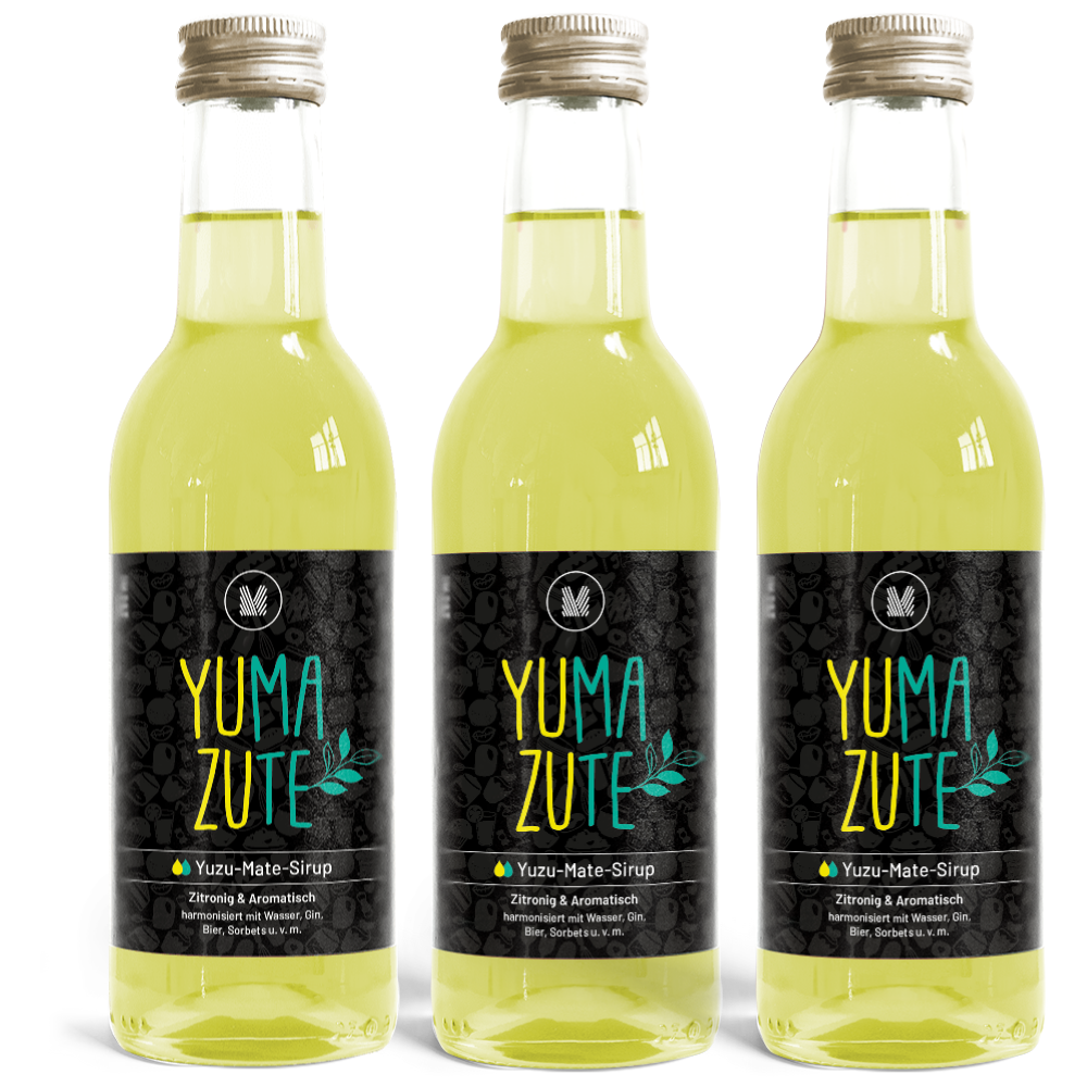 3x 250ml Yuzu-Mate-Sirup