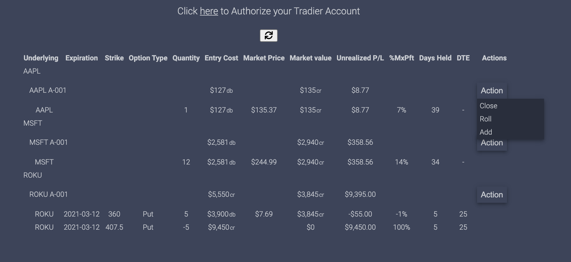 eDeltaPro group options trades by strategies