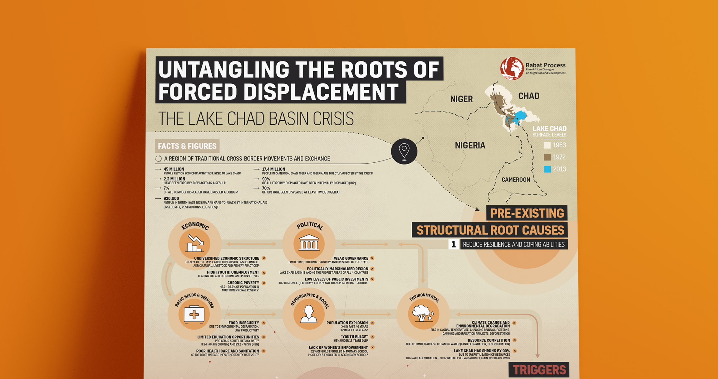 Infographic Design - Lake Chad Basin Crisis