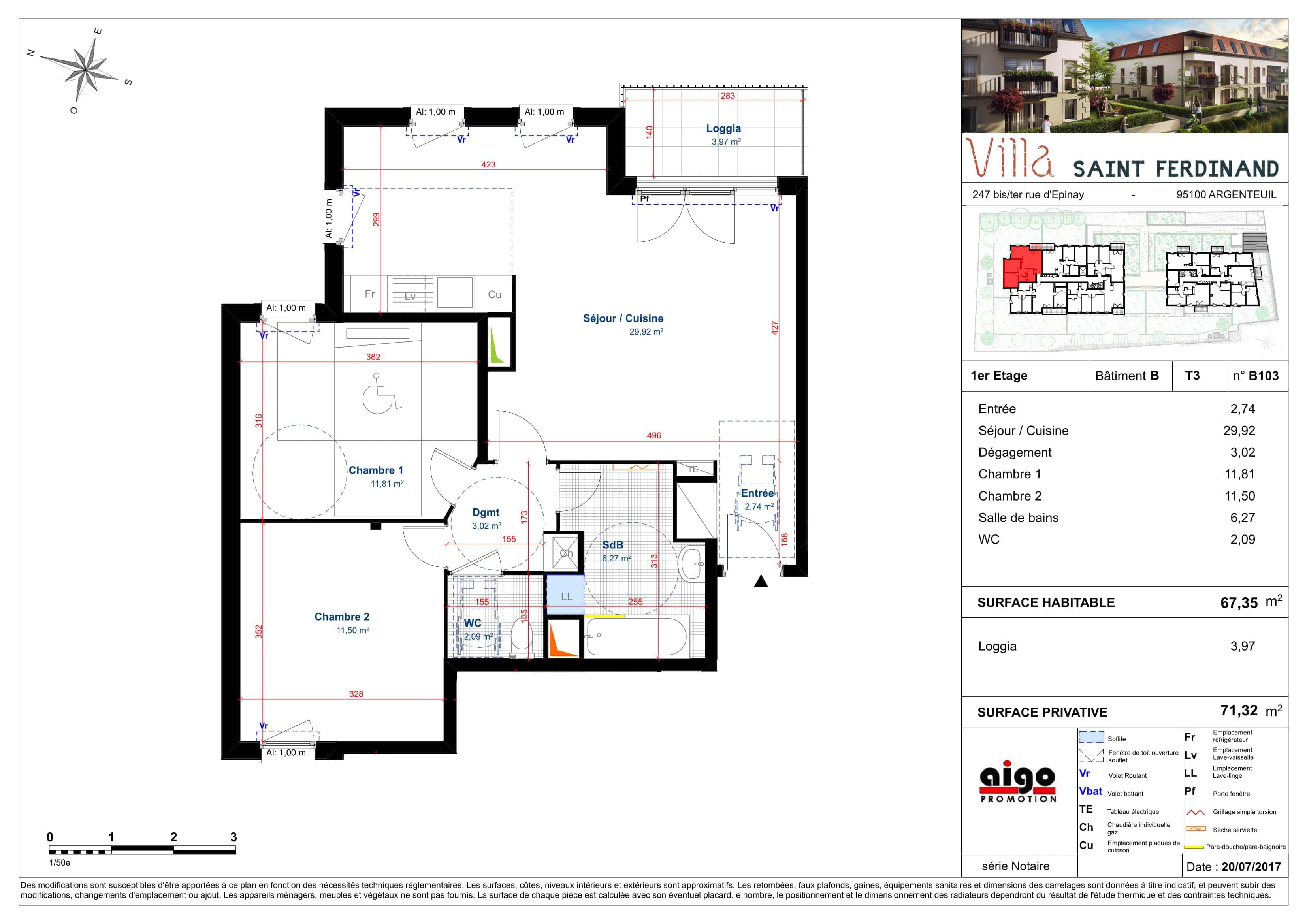 B103 : T3 programme immobilier argenteuil