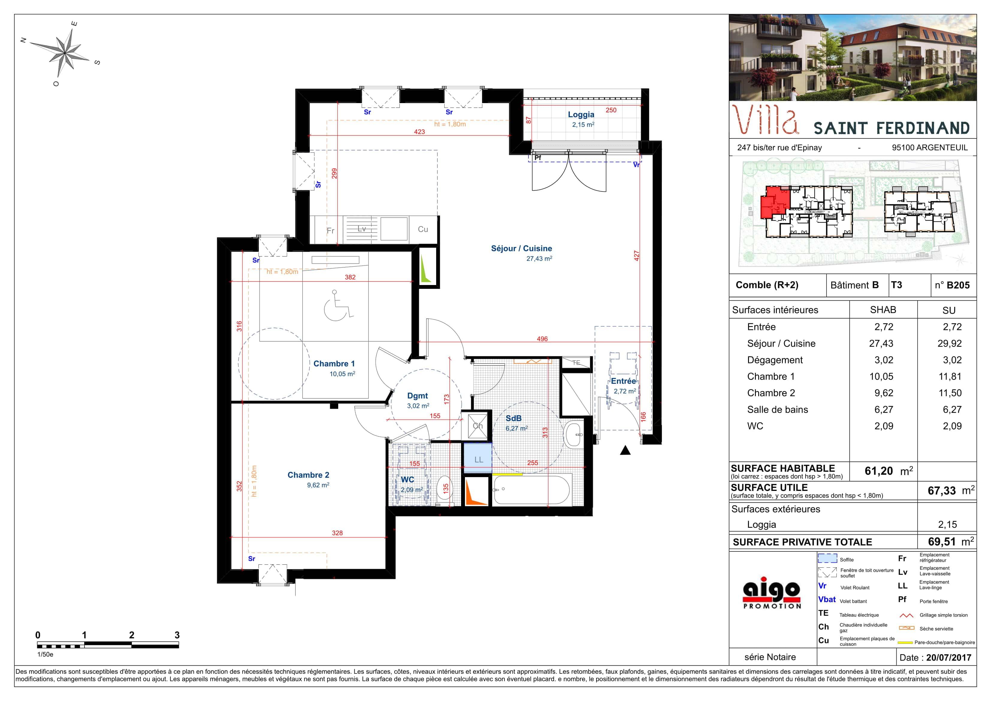 B205 : T3 programme immobilier argenteuil