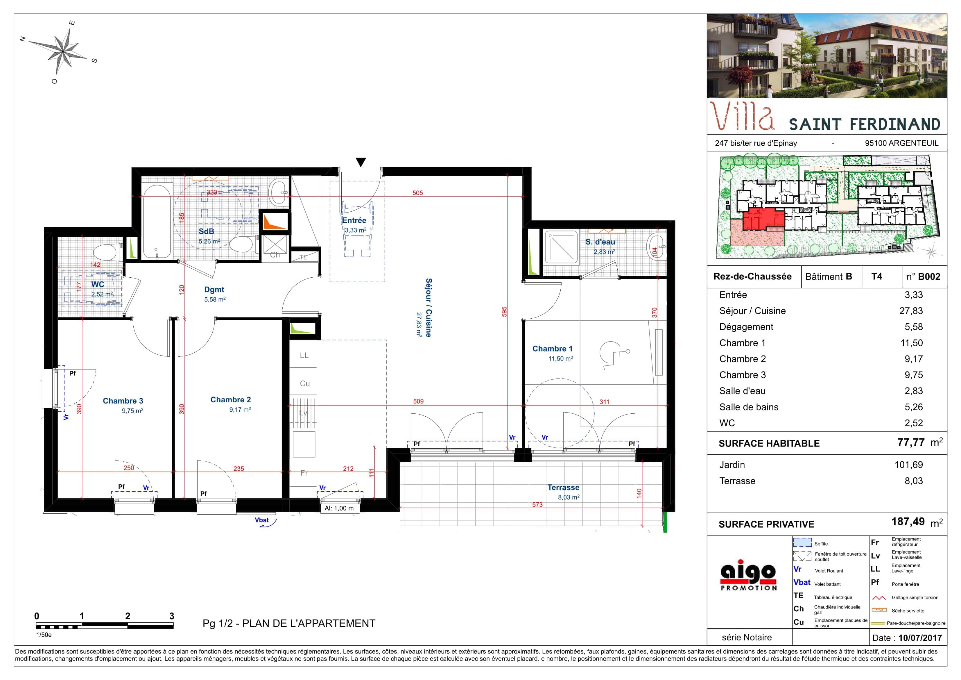 B002 : T4 programme immobilier argenteuil