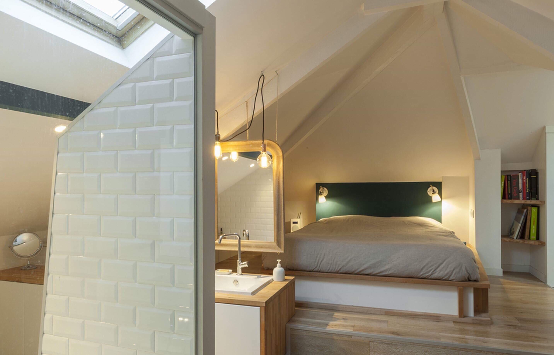 Le mansarde dans le logement neuf à Argenteuil, facile à aménager!