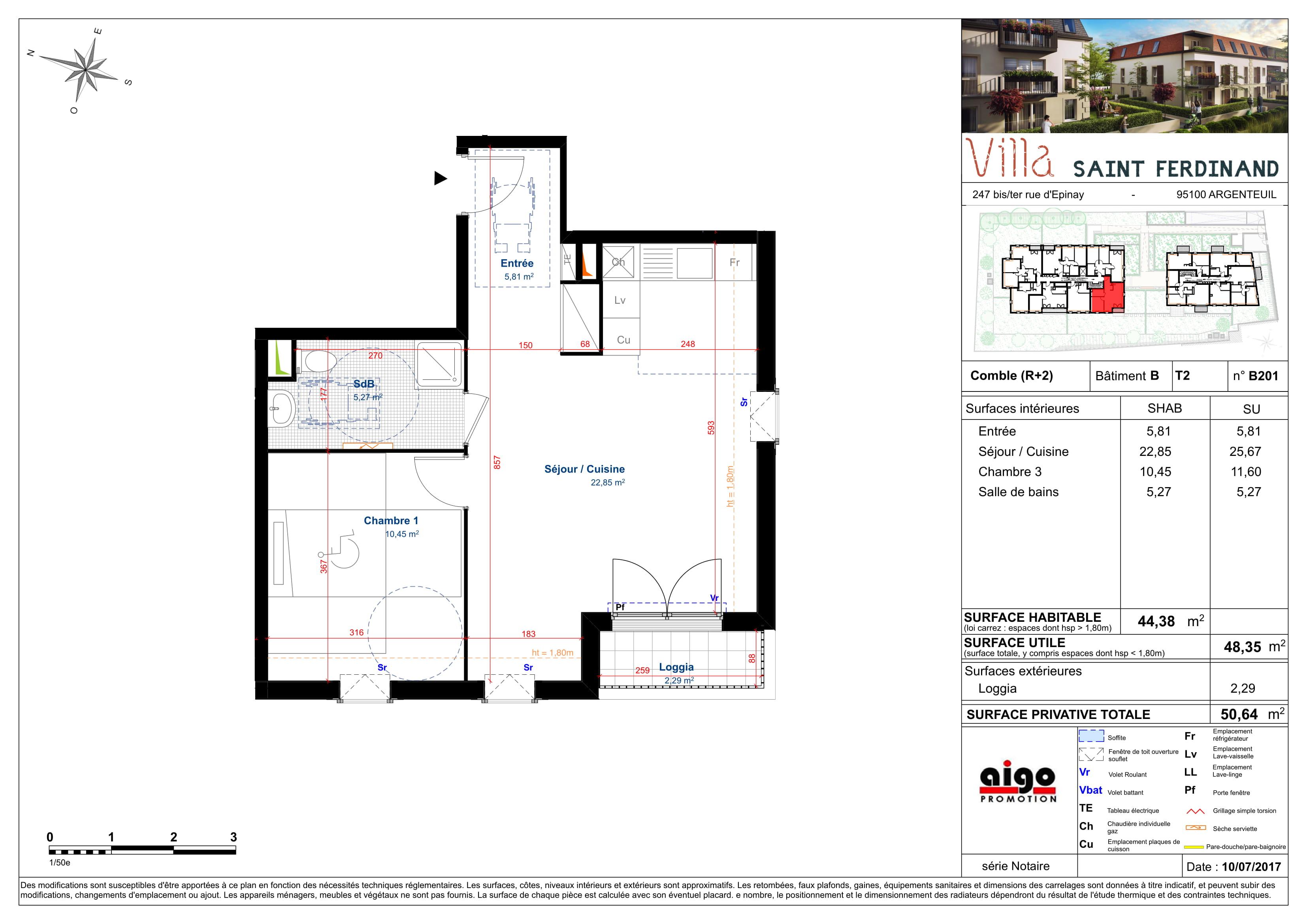 L'appartement T2 B201 à Argenteuil avec la Villa-Saint-Ferdinand