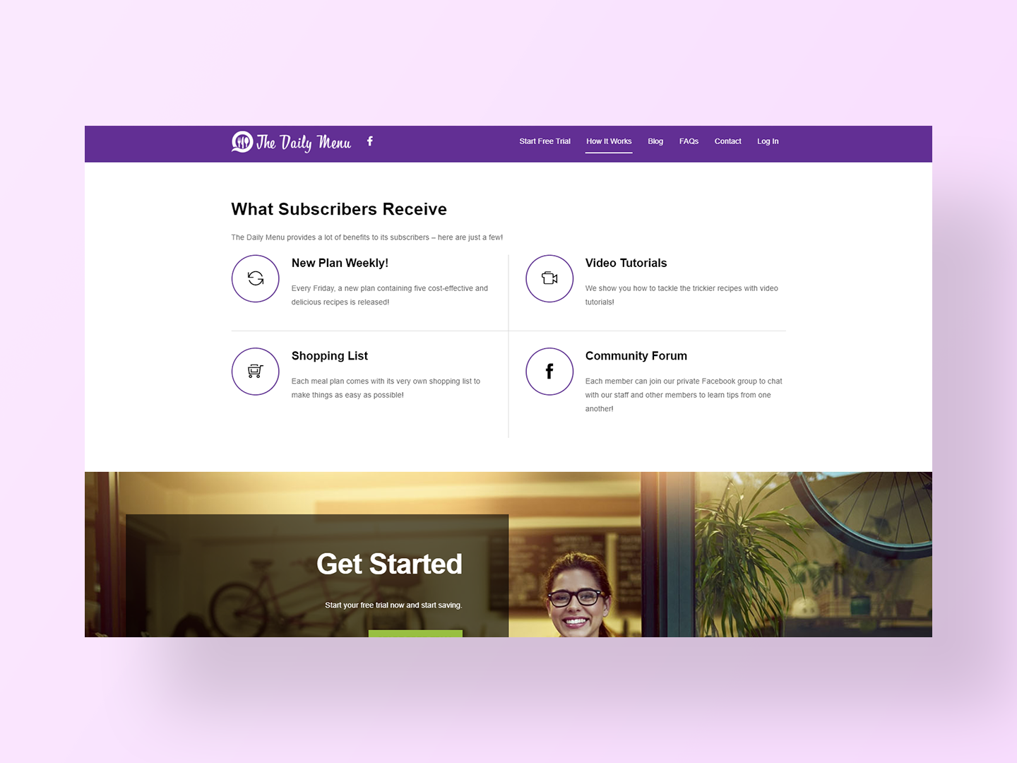 The Daily Menu's new website by Neon Hive
