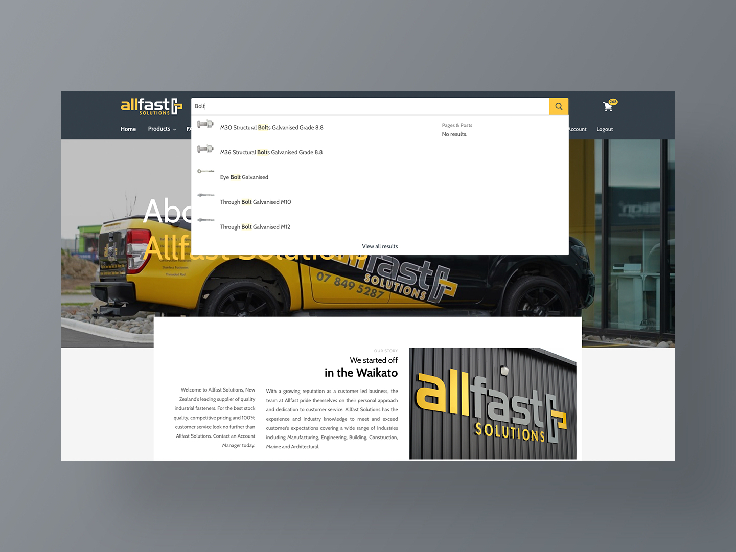 Live Product Search for Allfast by Neon Hive