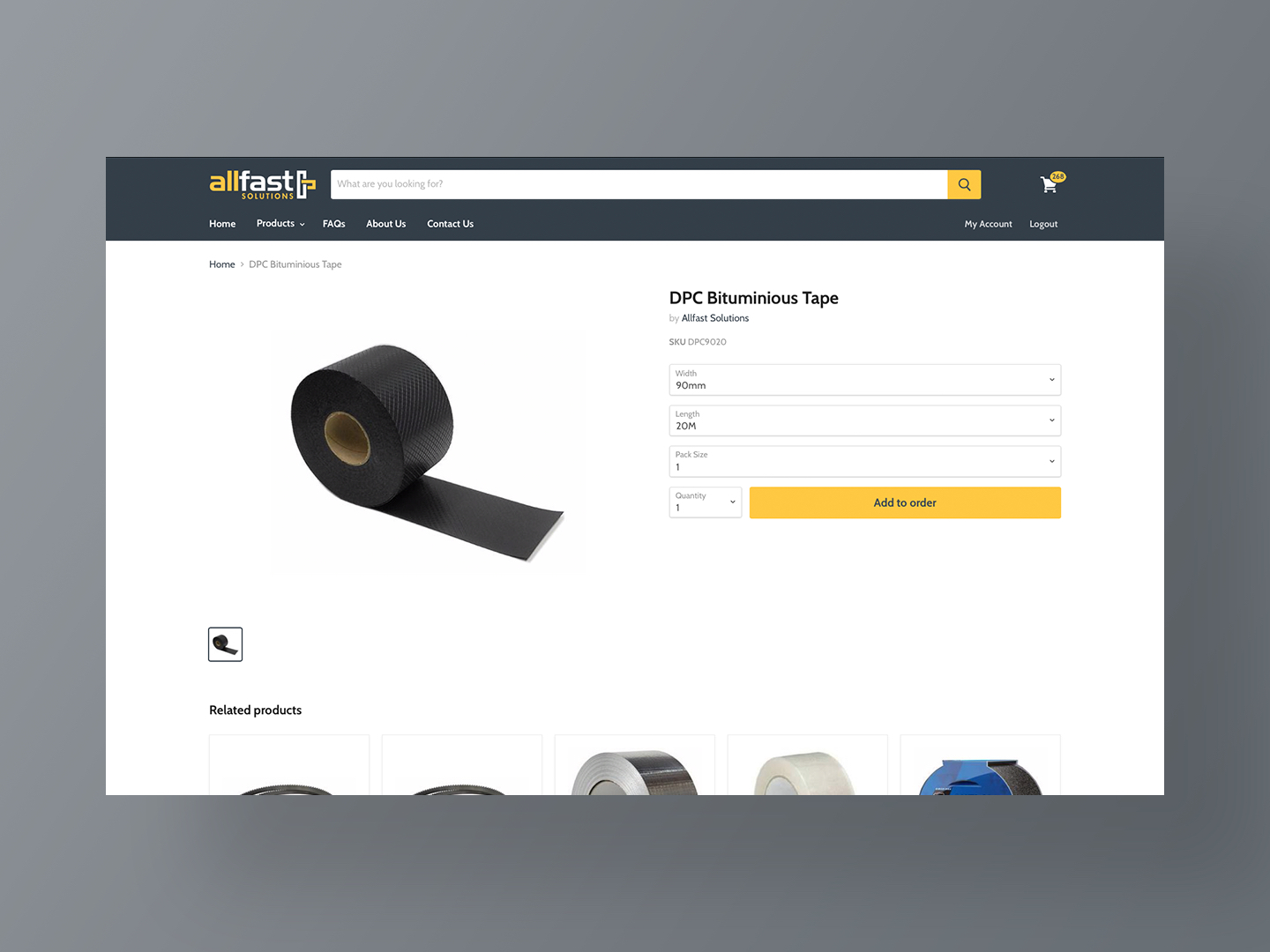 Allfast Solutions Product Page by Neon Hive