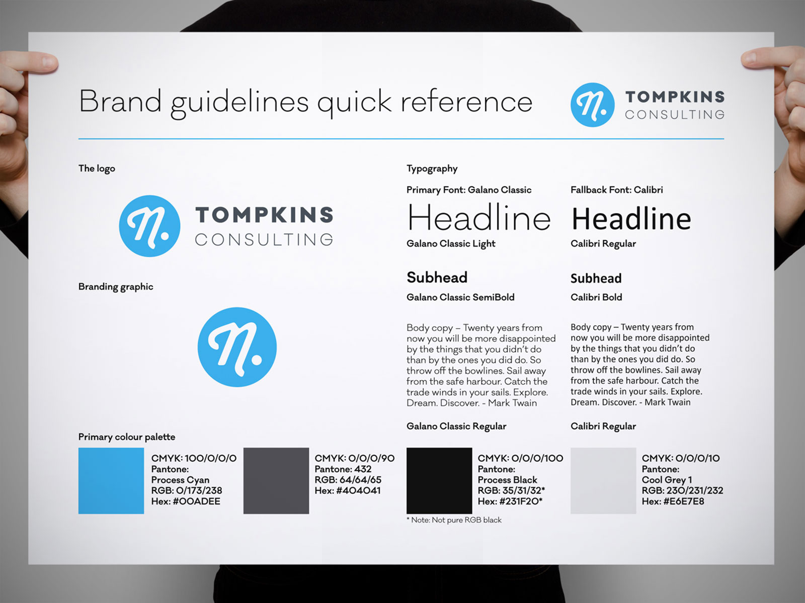 N. Tompkins Consulting - brand identity