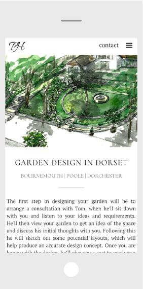 Garden website design mobile screen shot