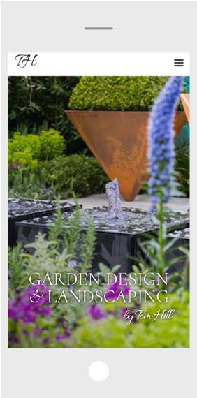 Garden website design mobile home page