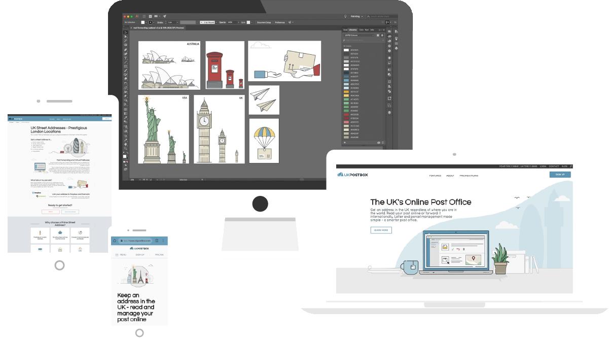 SAAS web design responsive mock up